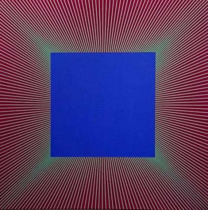 Radiant Blue, 1977 - 2017, Acrylic on canvas