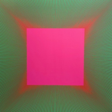 Red Edged Magenta, 1977 - 2017, Acrylic on canvas