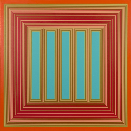 Temple of Turquoise with Red, 1985, Acrylic on canvas