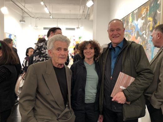 Larry Poons, Paula Poons, and David Ebony