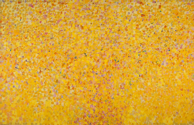 Shirley Goldfarb yellow confetti painting