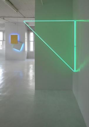 Right: Triangle EGL Green Inside Corner Neon, 1973