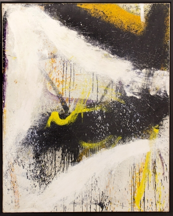 Jay Peak Norman Bluhm large yellow black painting