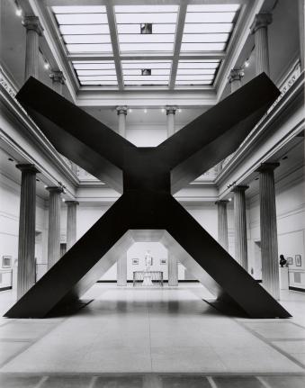 Ronald Bladen, X, 1967-68, black minimalist sculpture