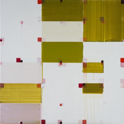 Roberto Caracciolo yellow square abstract painting