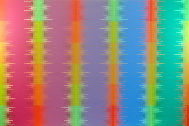 Spectral Complimentaries VII, 1983, Acrylic on canvas