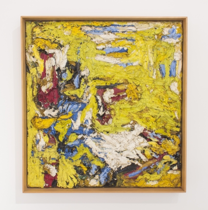 yellow stroke thick painting ronald bladen