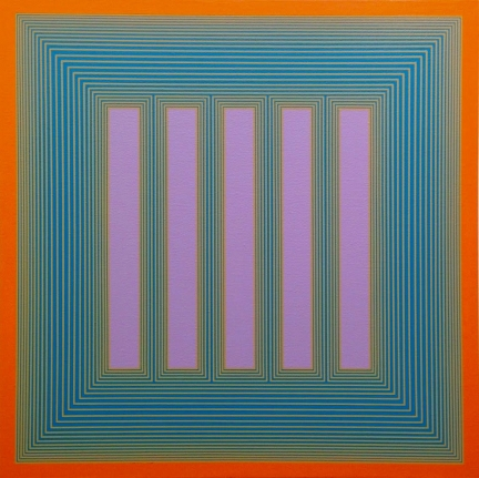Richard Anuszkiewicz Op art temple painting