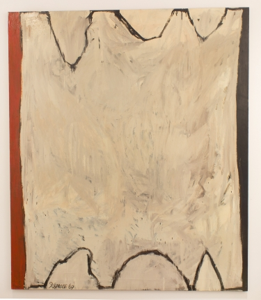 EDWARD DUGMORE Untitled #4, 1969, white red black painting