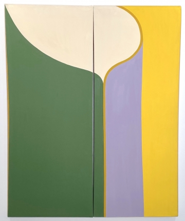 Untitled, 1963 Acrylic on canvas (Diptych)