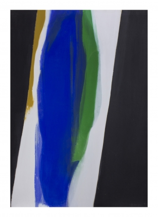 Cleve Gray, Pele, Hawaii painting, Blue green black