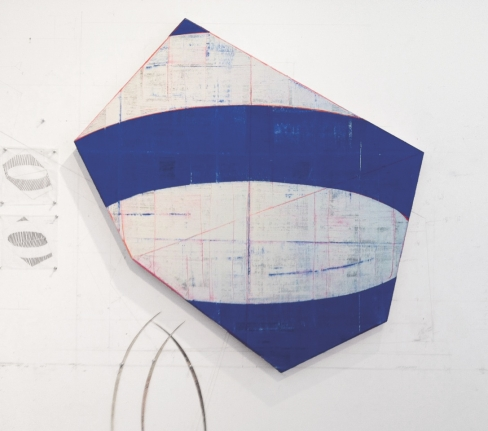 Cartography, 2014 Oil on canvas mounted to board