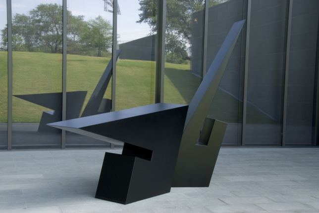 Host of the Ellipse, ronald blade, two piece black sculpture