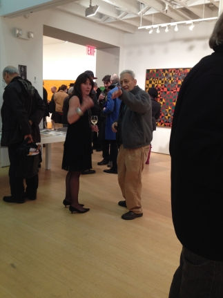 Frank stella gallery opening