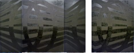 Untitled (4 parts), 1989, Oil and wax on canvas