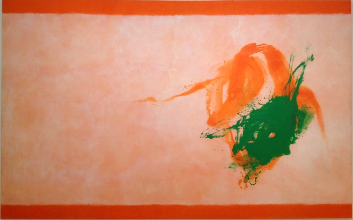 Cleve Gray orange and green painting