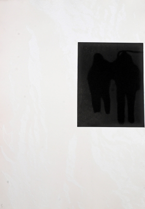 Untitled (Two Men in Snowstorm) from: White Carrot