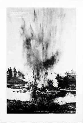Die explosition in dem Kanal from: The Russian Ending
