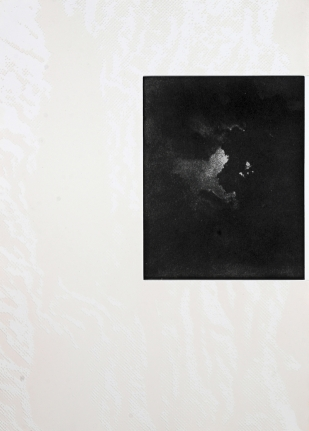 Untitled (Moon with Clouds) from: White Carrot