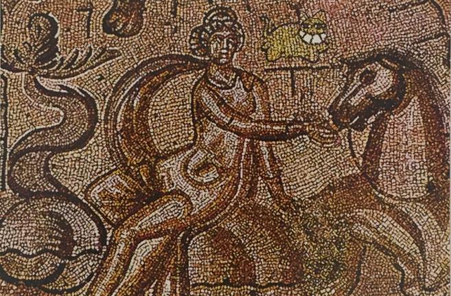 The Grinning Cat visits a Nereid (Roman mosaic)