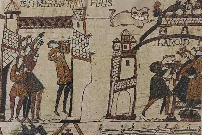 The Grinning Cat visits The Bayeux Broidery