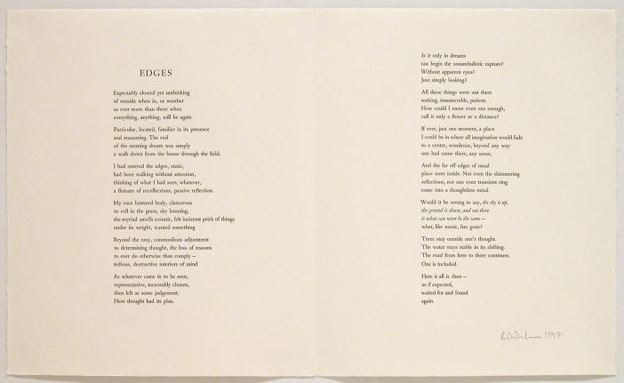Robert Creeley Edges, 1997