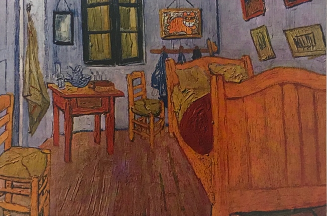 The Grinning Cat visits van Gogh