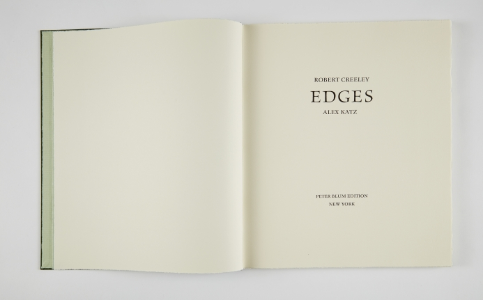Alex Katz and Robert Creeley,Edges, 1999,