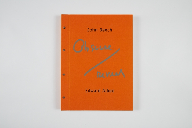 John Beech and Edward Albee,Obscure/Reveal, 2008