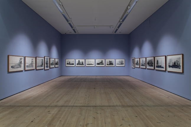 "installationof ""Huma Bhabha: Against Time,""BALTIC Centre for Contemporary Art, Gateshead, UK, 2020, photo: Rob Harris"