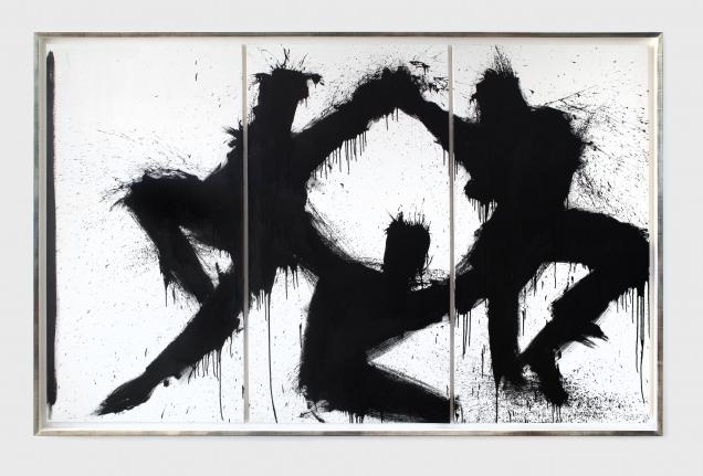 Richard Hambleton Dancing Shadow Triptych, 1997