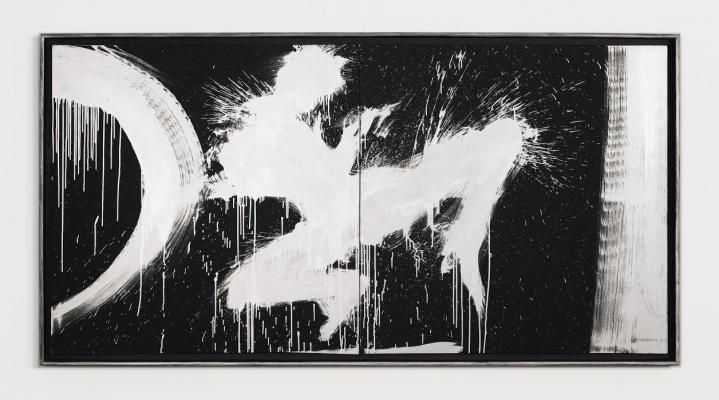 Richard Hambleton Untitled (Jumping Shadow Diptych), 1997