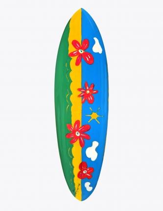 Paul McCartney Designed & Painted Surfboard