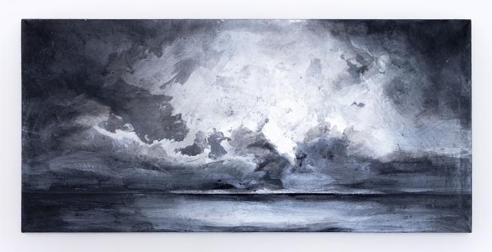 Richard Hambleton Silver Seascape, 1996