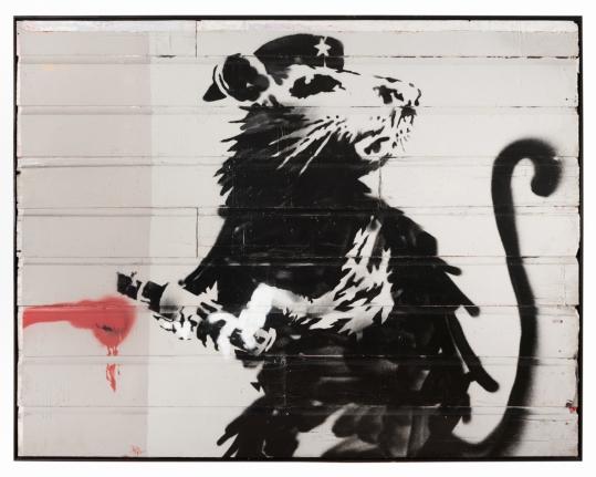 Banksy Haight Street Rat, 2010