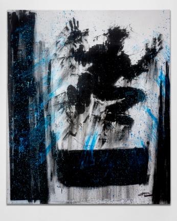 Richard Hambleton Jumping Shadow With Blue Streaks, 2009