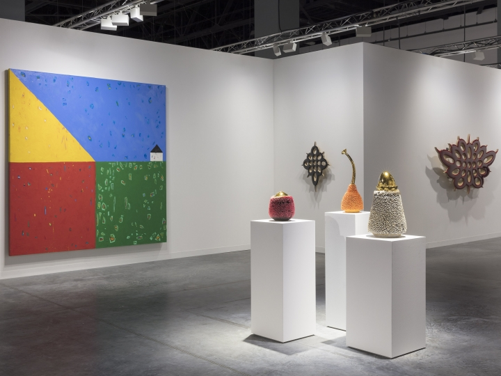 Installation view of art fair Art Basel in Miami