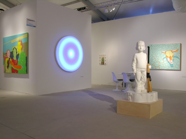 LEO VILLAREAL, JULIE ROBERTS, LISA RUYTER, LINCOLN SCHATZ, KENNY HUNTER and ERIK THOR SANDBERG 2012. Installation view: booth B19, Art Miami.