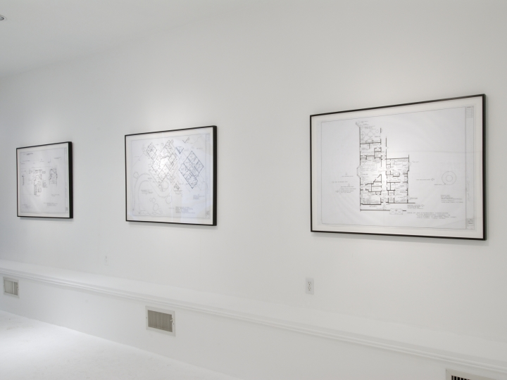 MARK BENNETT New Drawings 2007. Installation view: Conner Contemporary Art.