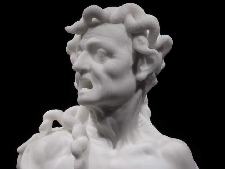 "BARRY X BALL Envy 2008-2010, sculpture: White Carrara (""Michelangelo"") Statuario Marble"