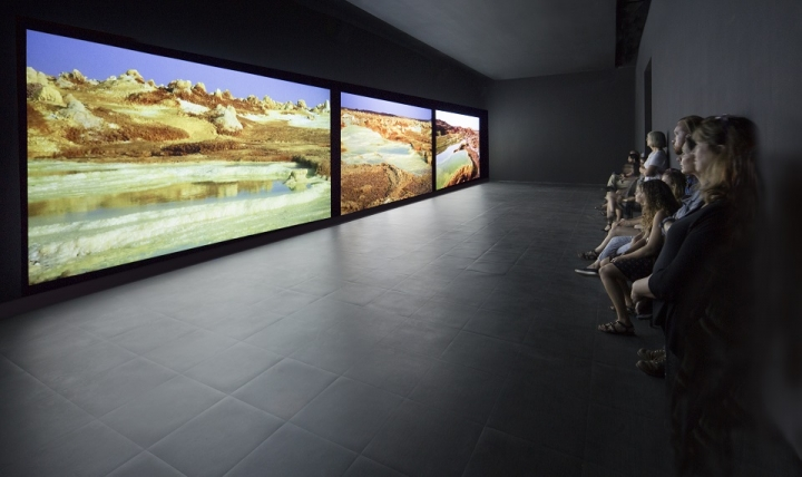 Installation view of Afar at SCAD Museum of Art.