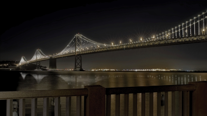 Bay Bridge Light Installation to Glimmer On in San Francisco Bay Bridge