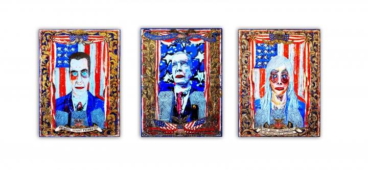 Federico Solmi, American Circus (Installation view), 2014