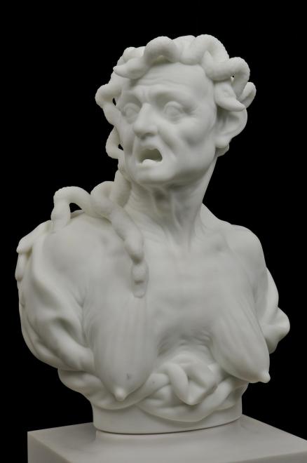 "barry X BALL Envy 2008-2010, sculpture: White Carrara (""Michelangelo"") Statuario Marble"