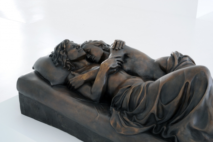 PATRICIA CRONIN Memorial to a Marriage 2012, bronze, 17 x 26.5 x 53 inches. Installation view: Conner Contemporary Art.