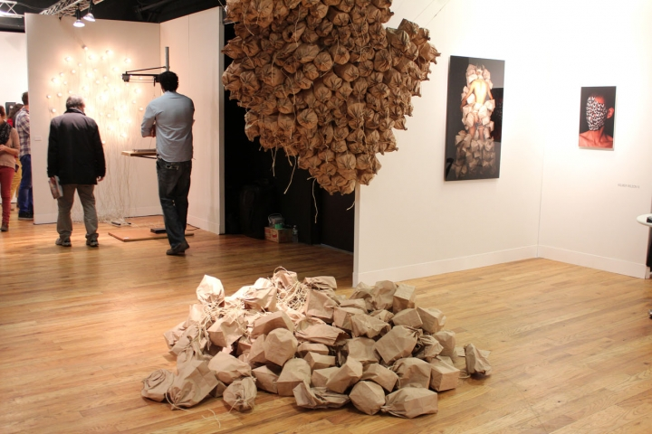 wilmer WILSON IV  2014, performance. Installation view: booth 1.17, VOLTA NY.