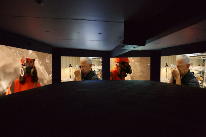 Janet Biggs, Can't Find My Way Home, 2015, four-channel HD video installation