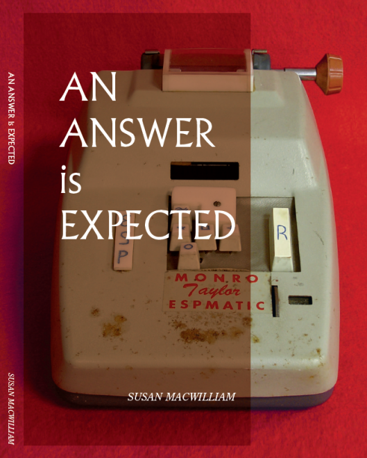 An Answer is Expected catalog cover