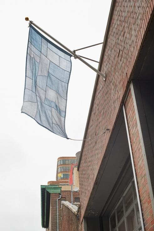 BYRON KIM Sky Blue Flag,2018