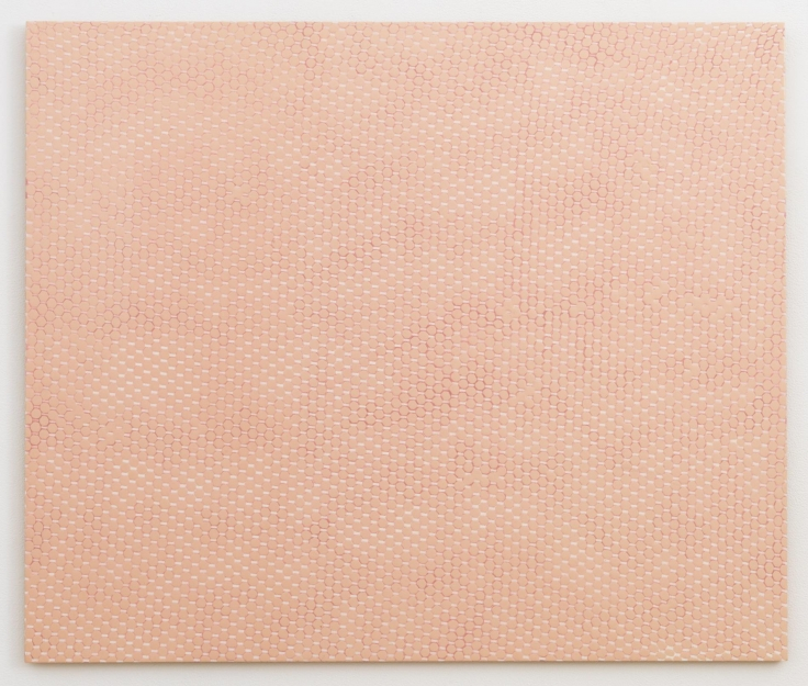 , MICHELLE GRABNERPink Curtain,1997Enamel on panel32 x 38 in. (81.3 x 96.5 cm)